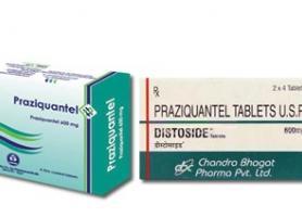 موارد مصرف داروی پرازیکوانتل