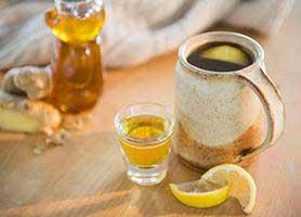 چای زنجبیل و لیمو ؛ درمان گلودرد و سرماخوردگی